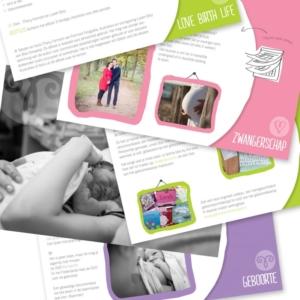 ebook illustraties ontwerp geboortefotografie Fermont Fotografie