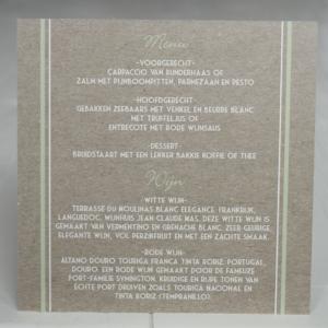 trouwen trouwkaarten menukaart kaftpapier illustraties origineel