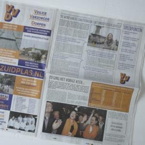 Krant rotatie druk ontwerp en redactie
