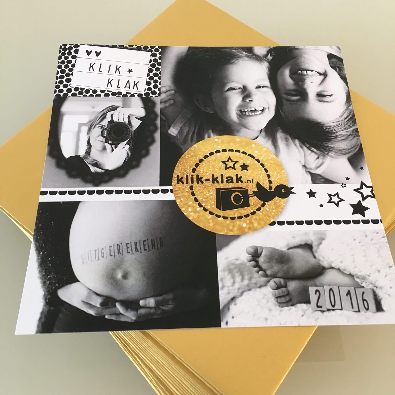 Zakelijk Kerstkaart fotografie Klik-Klak illustraties goud