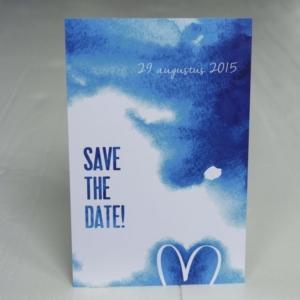 trouwkaart save the date kaarten bruiloft Blitz Ontwerpt watercolor