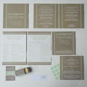 trouwen trouwkaarten lucifers kaftpapier illustraties origineel
