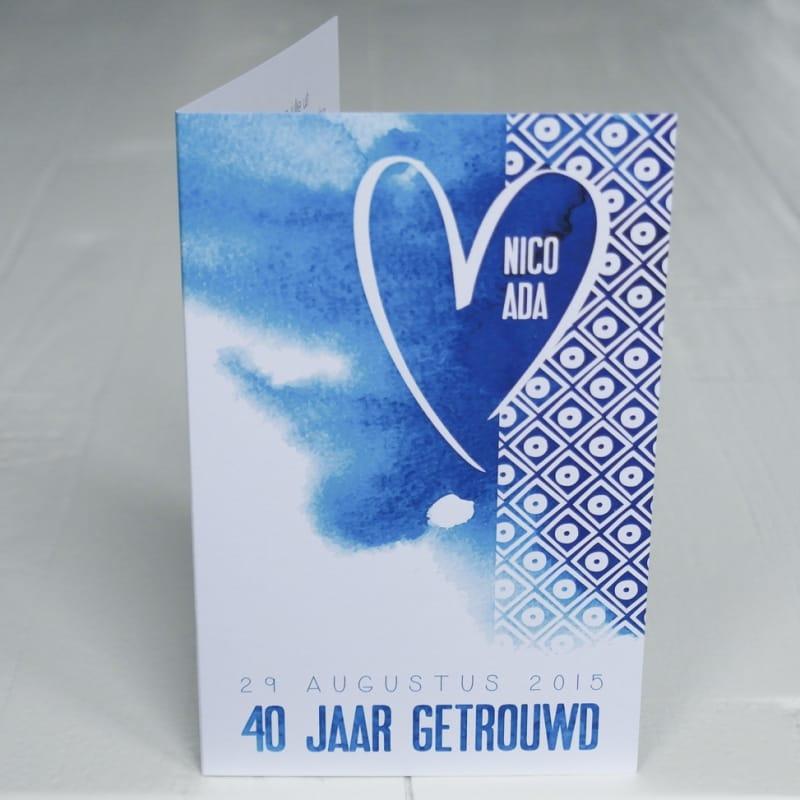 trouwkaarten 40 jarig huwelijk Trouwkaart 40 jarig huwelijk Nico&Ada • Blitz Ontwerpt trouwkaarten 40 jarig huwelijk