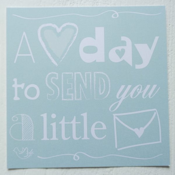 ansichtkaart love postcard post letters mint