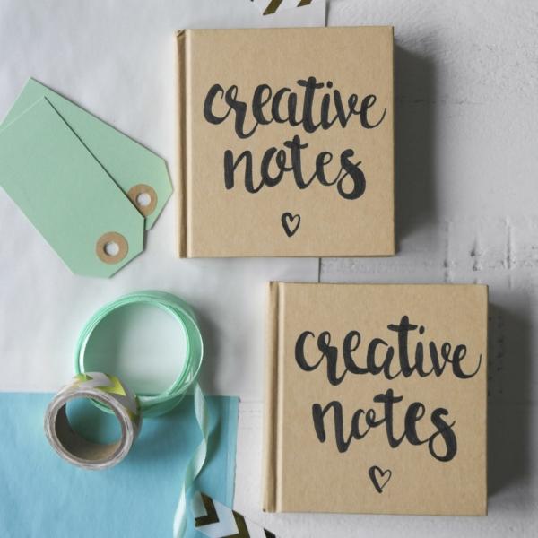handlettering notitieboek creative notes_blitz ontwerpt