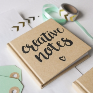 handlettering notitieboek creative notes_blitz ontwerpt