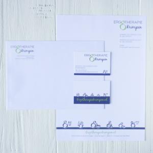 Logo huisstijl illustraties Ergotherapie Krimpen