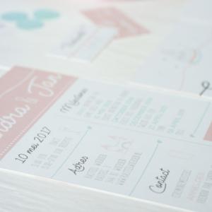 Trouwkaart SJ_origineel illustratie mint peach