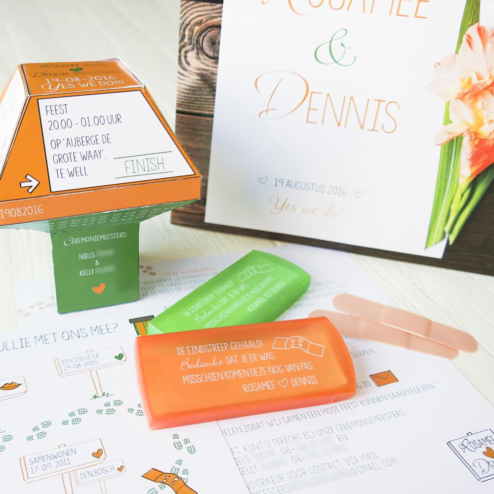 trouwkaart origineel bouwpakket bouwtekening anwb paaltje vierdaagse