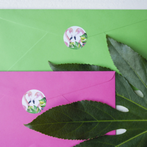 sticker flamingo rond