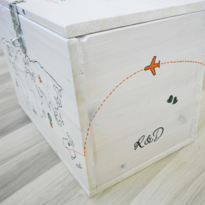 Enveloppen doos_geld trouwkaart trouwen illustraties