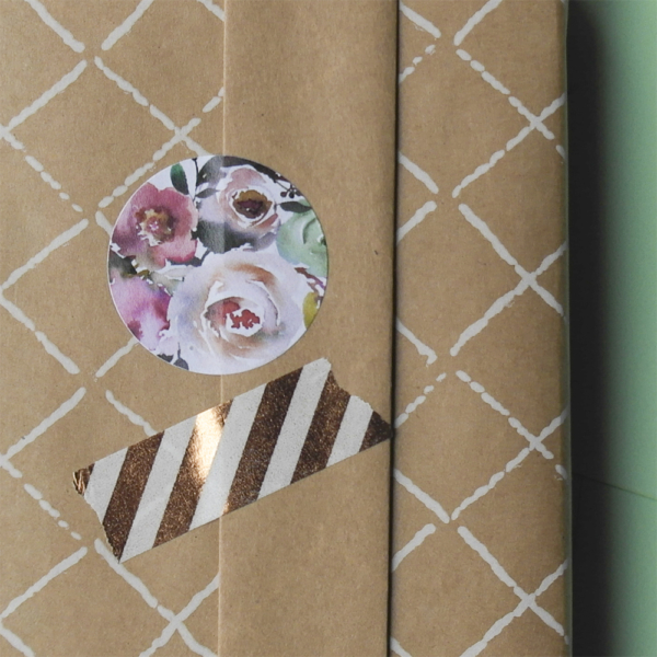 Blitz Ontwerpt Vintage flower sticker 06
