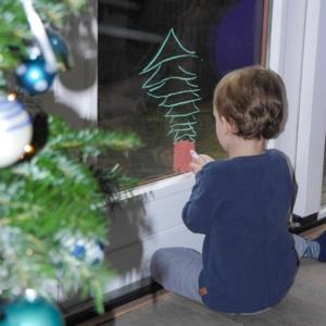Raamtekening Blitz Ontwerpt Kerst