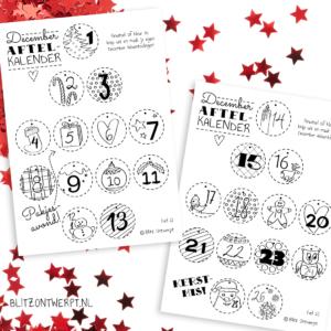 Kerstmis December aftelkalender free printable
