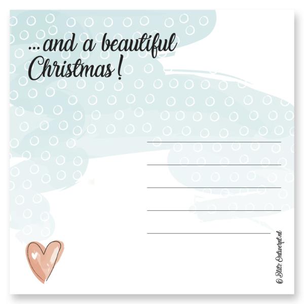 Kerstkaart kerst Blitz Ontwerpt Warm wishes Christmas