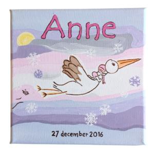Geboortekaart Geboorteschilderij Anne