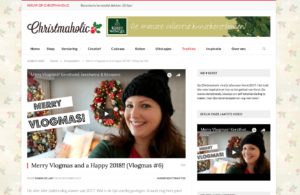 christmaholic kerts vlog nieuwjaarswens blitz ontwerpt