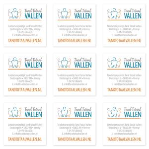 Logo huisstijl stickers Tandarts praktijk Tand Totaal Vallen_ Blitz Ontwerpt