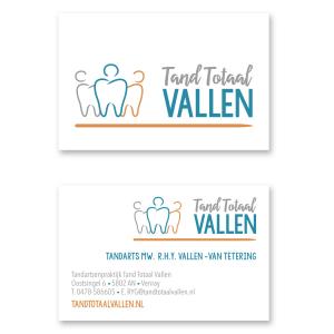 Logo huisstijl visitekaart Tandarts praktijk Tand Totaal Vallen_ Blitz Ontwerpt