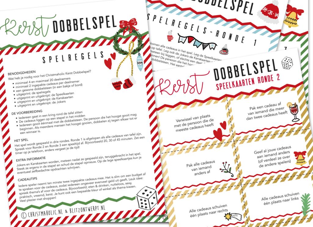 Kerst Dobbelspel Christmaholic Blitz Ontwerpt