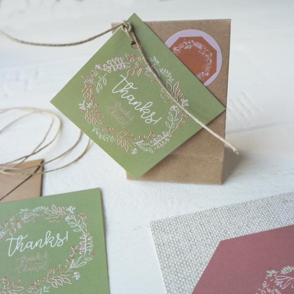 Winter bruiloft bedankje