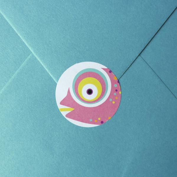 sticker Envelop kameleon roze