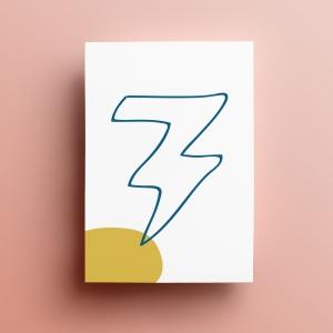 Blitz Ontwerpt briefpapier logo huisstijl branding achterkant