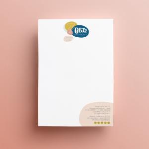 Blitz Ontwerpt logo huisstijl branding briefpapier