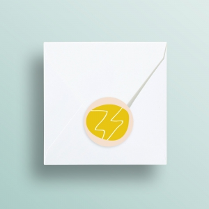 Blitz Ontwerpt logo huisstijl branding sticker rond