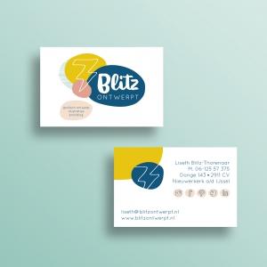 Blitz Ontwerpt logo huisstijl branding visitekaart