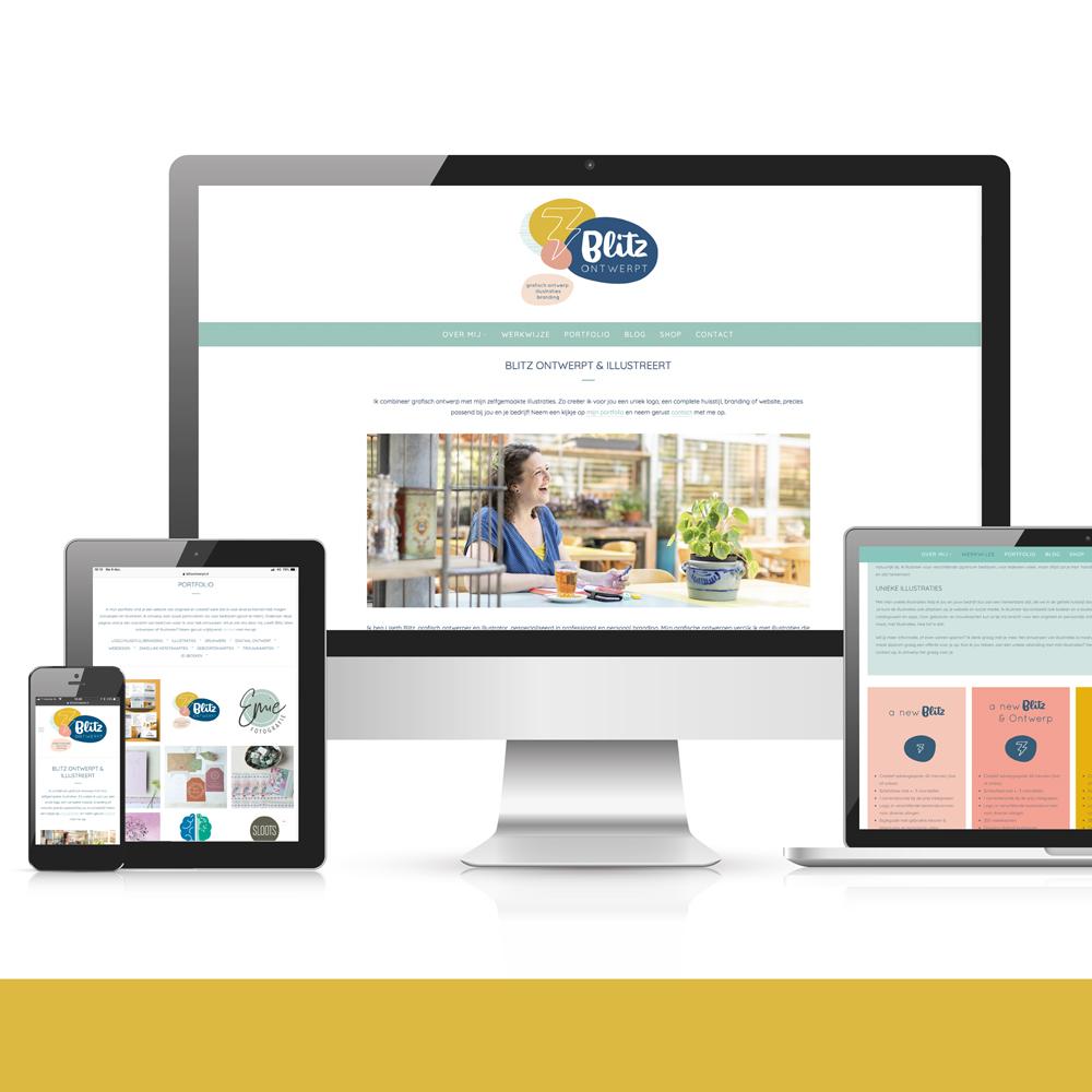 Website Blitz Ontwerpt Grafisch ontwerp illustraties