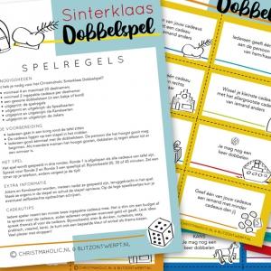 Christmaholic Blitz Ontwerpt_Sinterklaas Dobbelspel printable
