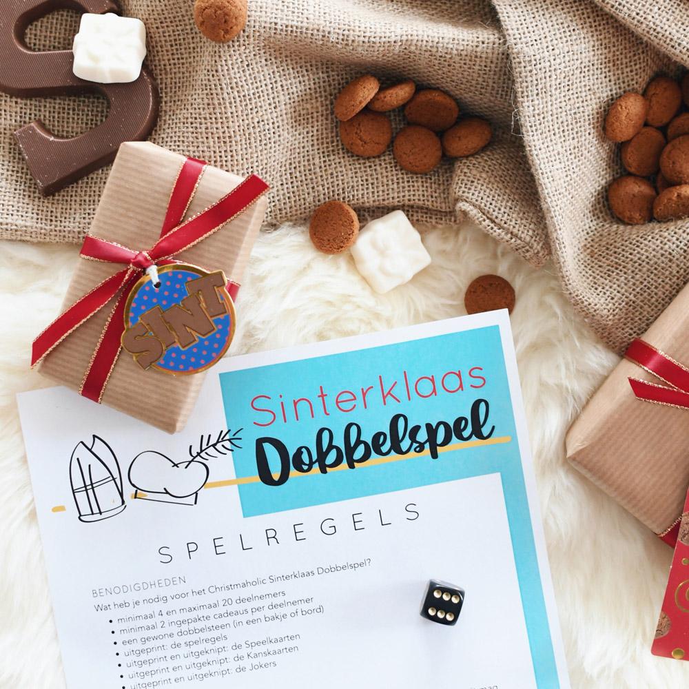 Sinterklaas Dobbelspel printable