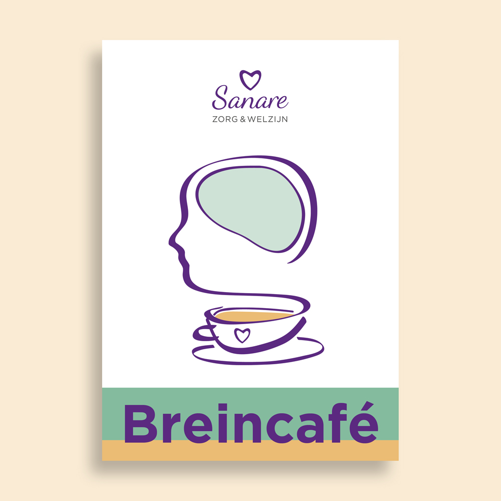 Sanare illustratie Breincafe flyer