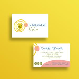 Logo Supervisie & Zo Blitz Ontwerpt visitekaart