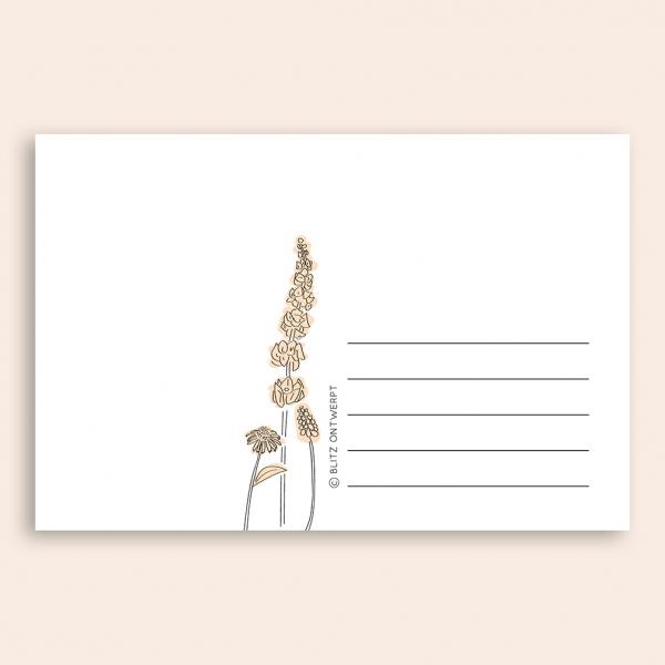 Sterkte ansichtkaart bloemen Blitz Ontwerpt