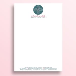 Logo briefpapier Hand in Hand Holistische praktijk Blitz Ontwerpt