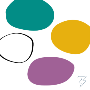 Logo Zitfit fysiotherapie Blitz Ontwerpt Branding palet
