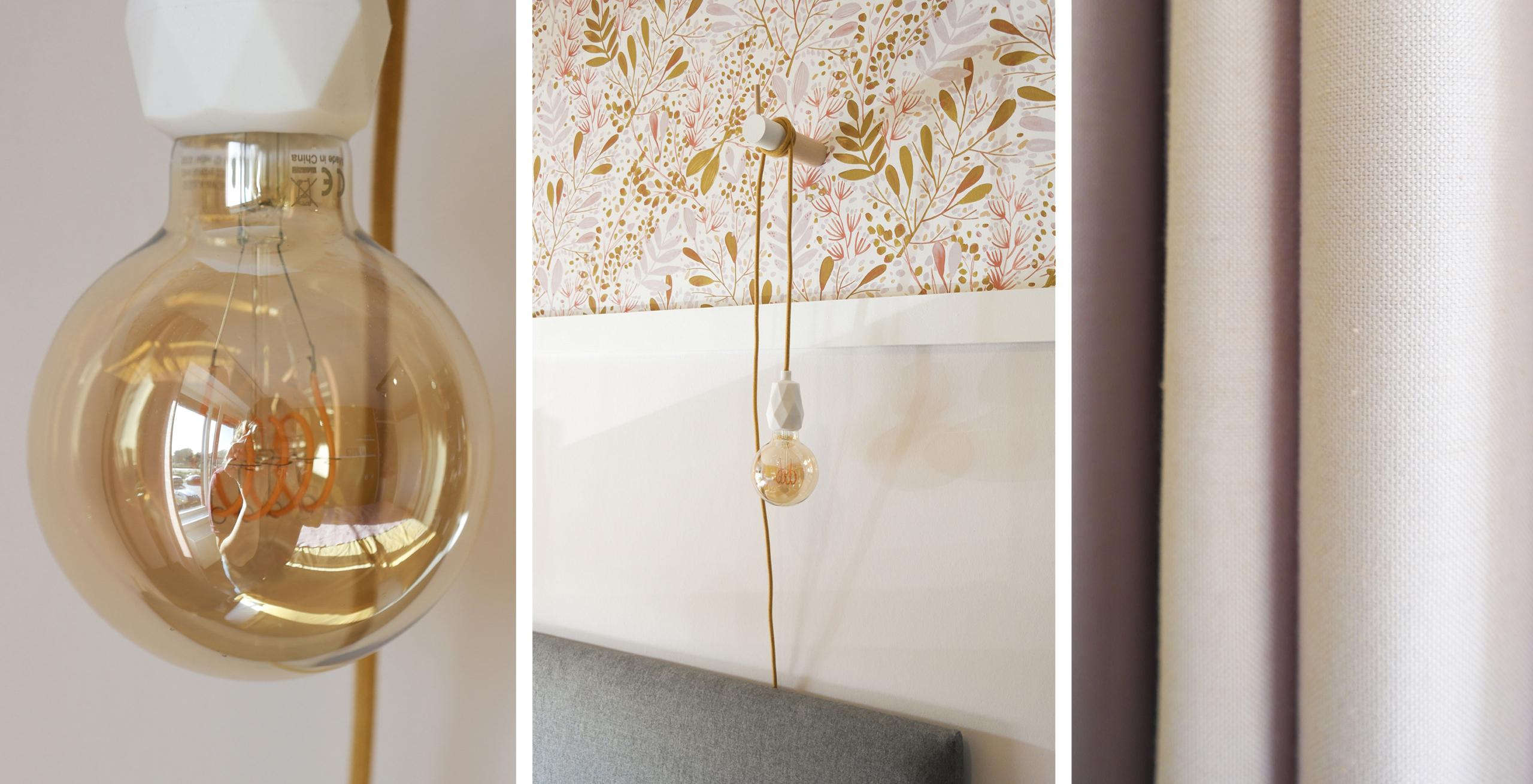 kleur interieurstyling slaapkamer Blitz ontwerpt lamp snoerboer strijkijzersnoer
