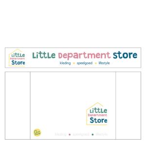 belettering geveld bord reclame Little Department Store Blitz Ontwerpt