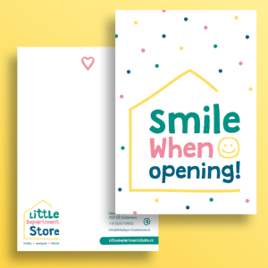 Bedankkaart Little Department Store Rotterdam Blitz Ontwerpt