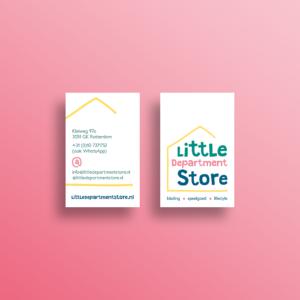 Visitekaart Little Department Store Rotterdam Blitz Ontwerpt