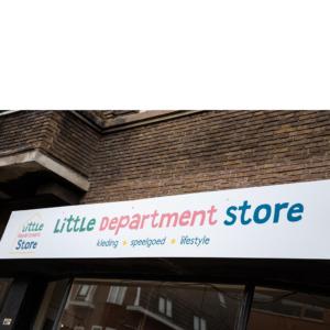Winkelruit belettering gevelreclame Little Department Store Blitz Ontwerpt