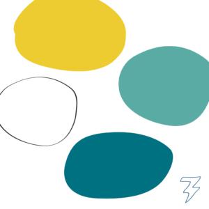 Logo kleuren branding Kinderpraktijk bij Kee Blitz Ontwerpt