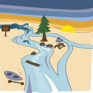 illustratie rivier levensweg Zen- & zingeving Zuidplas Blitz Ontwerpt