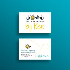 Kinderpraktijk Bij Kee_Visitekaart Blitz Ontwerpt