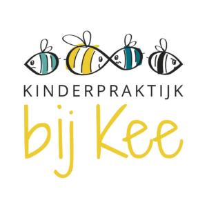 Kinderpraktijk bij Kee Logo bijtjes Blitz Ontwerpt